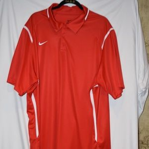 Mens Nike Red with White Trim Polo XXL